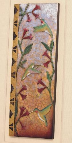 Detail - Hummingbird Plaque