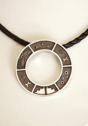 Circle Pendant from the Natural Divinity Series - Detail