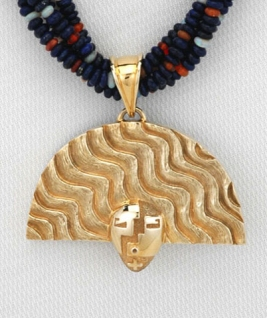 Nurtured by Prayer Pendant - Gold - Detail