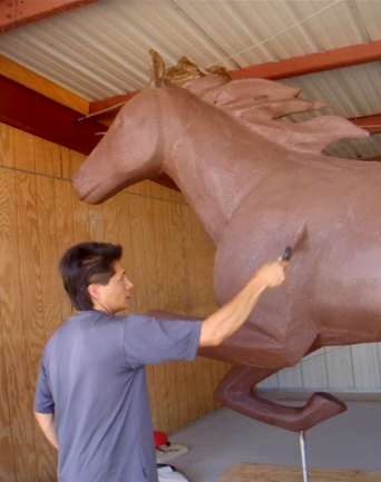 To Horses - Sky Ute Casino Installation