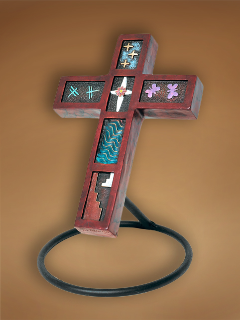 Bronze cross by Joe Cajero