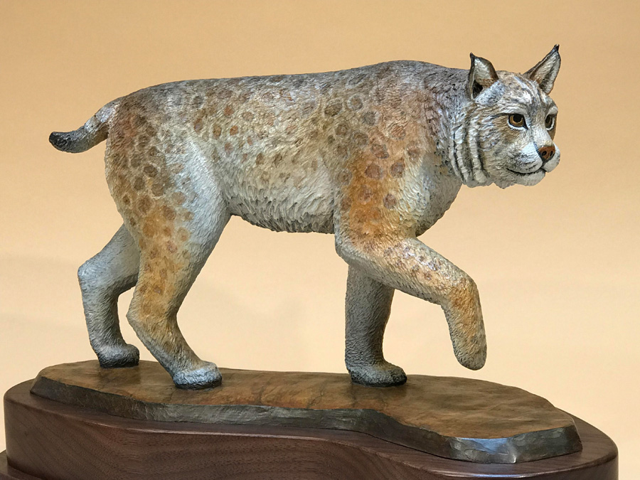 On the Prowl bronze statue by Joe Cajero